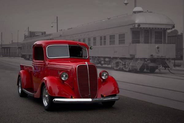 Photograph - 1937 Ford Pickup Truck Hot Rod by Tim McCullough