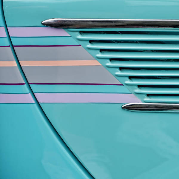 Sedan Wall Art - Photograph - 1937 Ford Sedan Slantback Door Detail by Carol Leigh