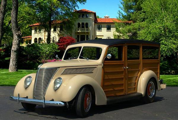 Photograph - 1937 Ford Woody Station Wagon by Tim McCullough