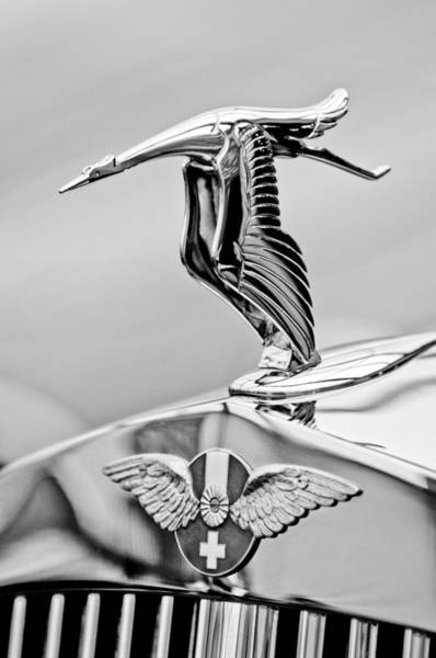 Photograph - 1937 Hispano-suiza Hood Ornament 2 by Jill Reger