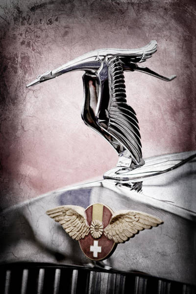 Photograph - 1937 Hispano-suiza Hood Ornament - Emblem by Jill Reger