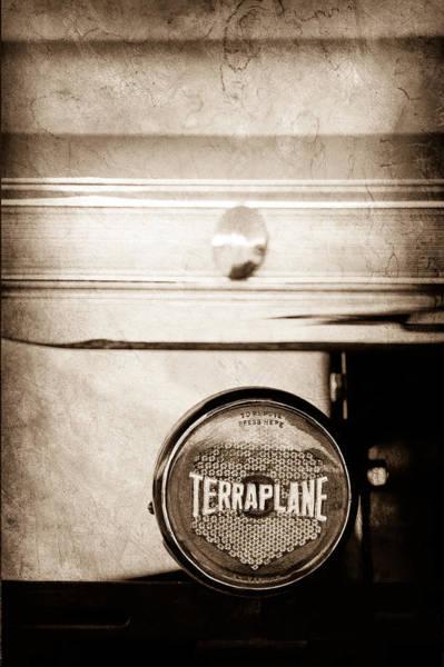 Photograph - 1937 Hudson Terraplane Pickup Truck Taillight Emblem by Jill Reger