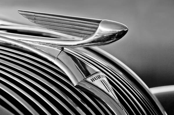 Photograph - 1937 Hudson Terraplane Sedan Hood Ornament 3 by Jill Reger