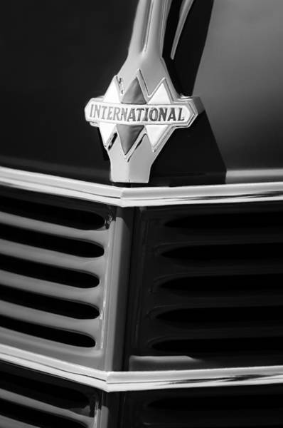 Photograph - 1937 International D2 Pickup Truck Grille Emblem by Jill Reger
