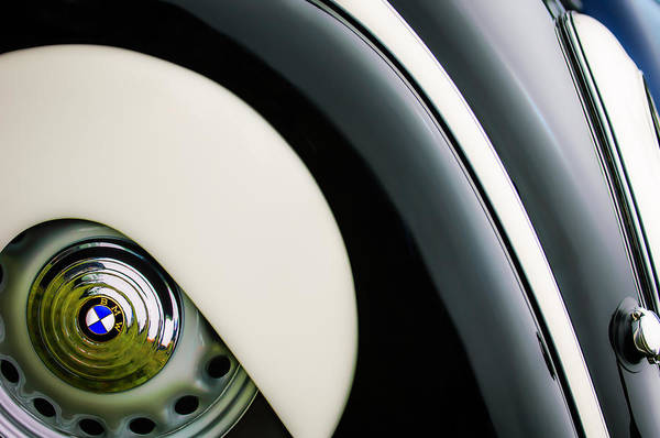 Photograph - 1938 Bmw 327 - 8 Cabriolet Rear Wheel Emblem -2668c by Jill Reger