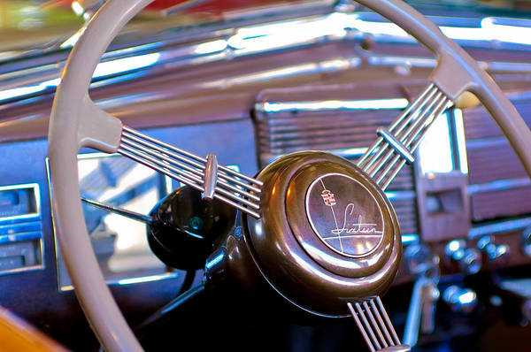 Photograph - 1938 Cadillac V-16 Presidential Convertible Parade Limousine Steering Wheel by Jill Reger