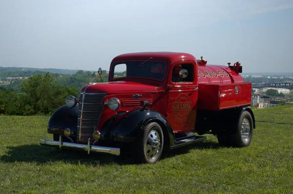 Photograph - 1938 Chevrolet Fuel Truck by Tim McCullough