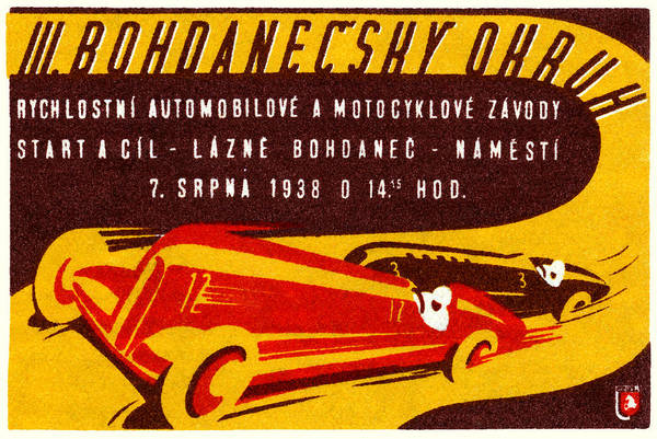 Historic Car Painting - 1938 Czech Motor Racing by Historic Image