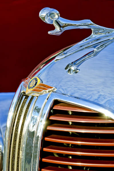 Hoodies Photograph - 1938 Dodge Ram Hood Ornament 3 by Jill Reger