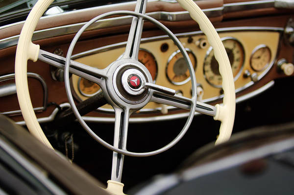Photograph - 1938 Mercedes-benz 540k Special Roadster  Steering Wheel by Jill Reger