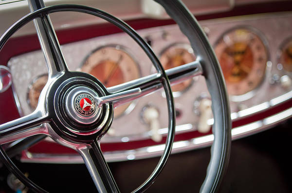Photograph - 1938 Mercedes-benz 540k Sports Tourer Steering Wheel by Jill Reger