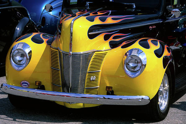 Customized Photograph - 1939 1940 Ford Flame Job Painted Hot by Vintage Images