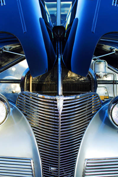 Photograph - 1939 Chevrolet Coupe Grille -115c by Jill Reger