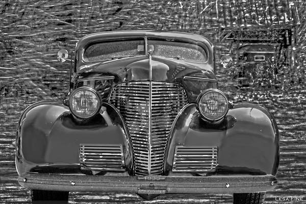Photograph - 1939 Chevy Immenent Front Bw Art by Lesa Fine