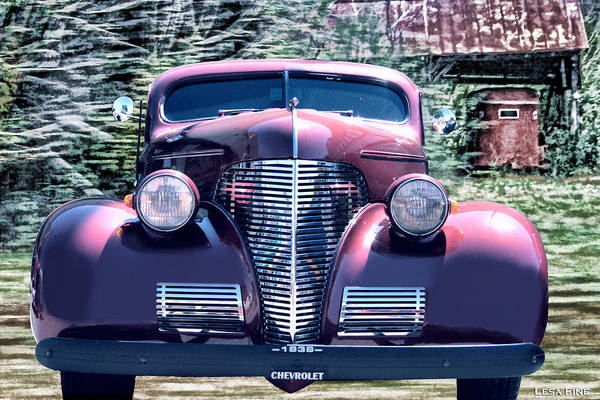 1939 Chevy Immenent Front Original Art Print