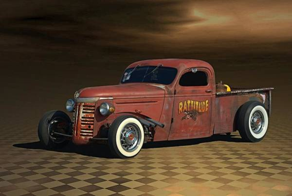 Photograph - 1939 Chevy Rat Rod Pickup by Tim McCullough