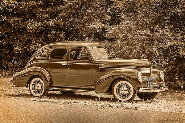 Photograph - Classic - Car - 1939 Chrysler 4-dr Sedan by Barry Jones