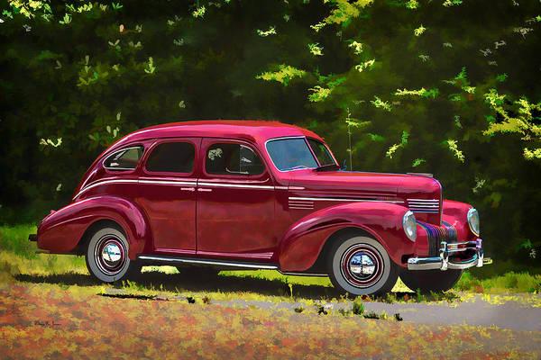 Painting - 1939 Chrysler Royal 4 Door Sedan-wc by Barry Jones