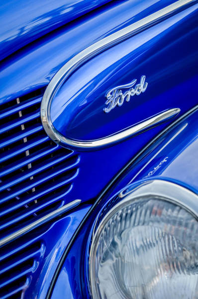 Photograph - 1939 Ford Woody Wagon Side Emblem by Jill Reger