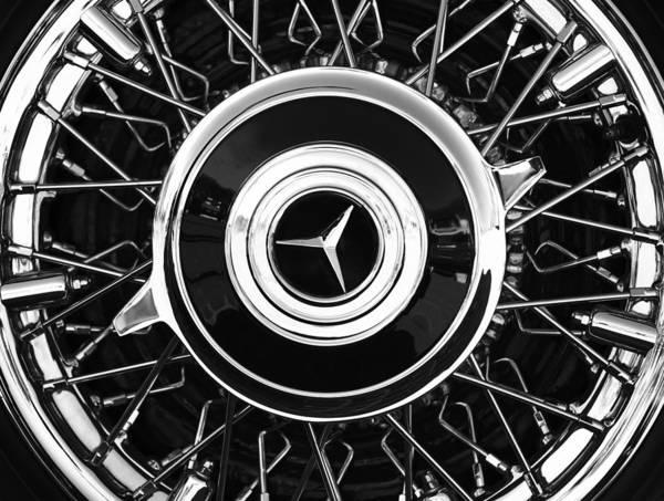 Photograph - 1939 Mercedes-benz 540k Special Roadster Wheel Rim Emblem by Jill Reger