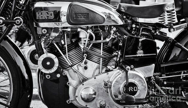 Photograph - 1939 Vincent Hrd Series A Rapide Monochrome by Tim Gainey