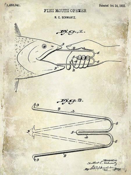 Redfish Lake Photograph - 1940 Boning Fish Patent Drawing  by Jon Neidert