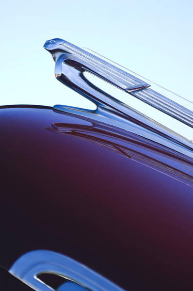 Car Part Photograph - 1940 Chevrolet Hood Ornament by Jill Reger