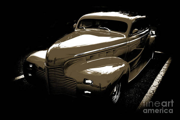Photograph - 1940 Chevrolet Master Artistic Classic Car Automobile Sepia  311 by M K Miller