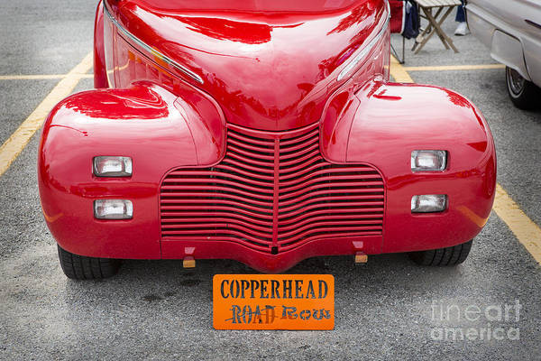 Photograph - 1940 Chevrolet Master Classic Car Automobile Front End Color  31 by M K Miller