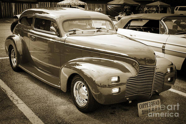 Photograph - 1940 Chevrolet Master Classic  Side View Sepia  3112.01 by M K Miller