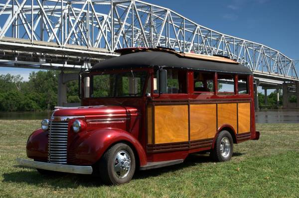 Photograph - 1940 Chevrolet Woody School Bus by Tim McCullough