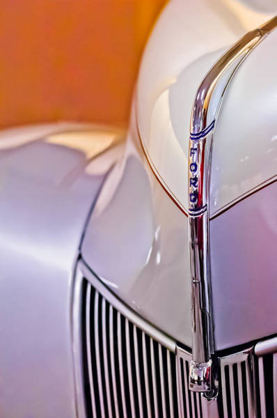 Vintage Hood Ornaments Photograph - 1940 Ford Hood Ornament by Jill Reger