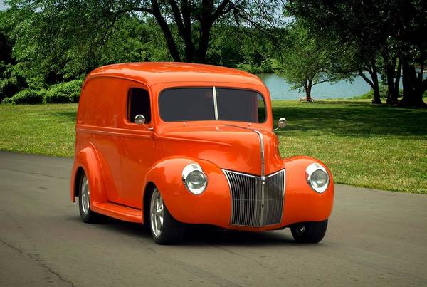 Ford Van Photograph - 1940 Ford Panel Truck by Tim McCullough