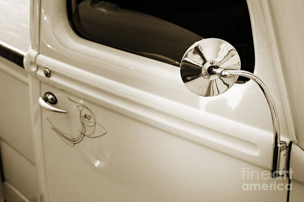 Photograph - 1940 Ford Pickup Truck Mirror Car Or Automobile In Sepia  3138.0 by M K Miller