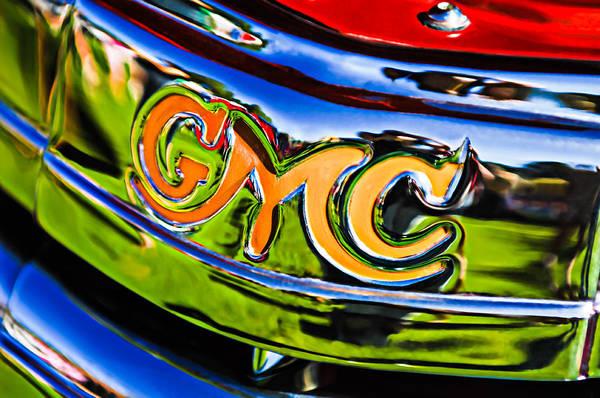 Photograph - 1940 Gmc Pickup Truck Emblem by Jill Reger