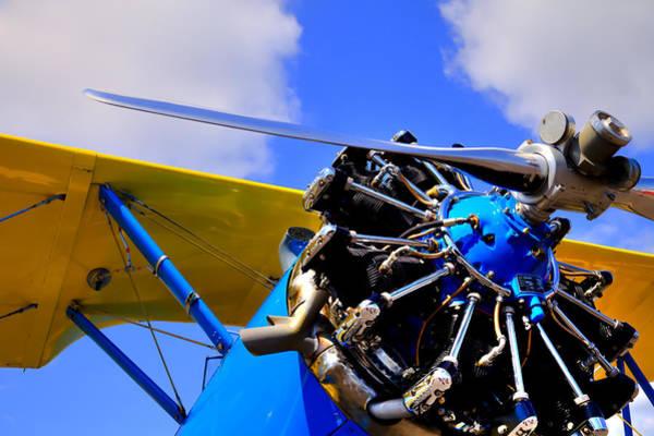 Radial Engine Photograph - 1940 Stearman Pt-18 Kadet by David Patterson