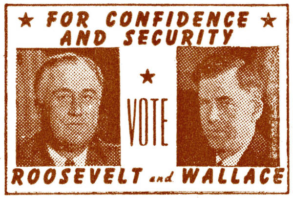 Fdr Painting - 1940 Vote Roosevelt And Wallace by Historic Image