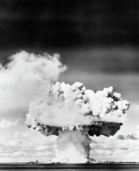 Holocaust Photograph - 1940s 1950s Atomic Bomb Explosion by Vintage Images