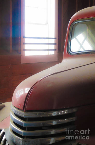 Photograph - 1940s Era Red Chevrolet Truck  by Jo Ann Tomaselli