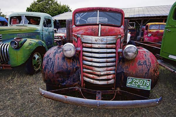Wrecking Yard Photograph - 1940s G M C Truck by Daniel Hagerman