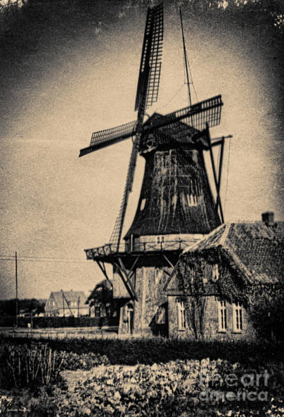 Photograph - 1940s German Windmill  by Gerlinde Keating - Galleria GK Keating Associates Inc