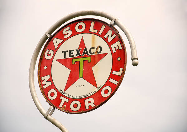 Digital Art - 1940s Texaco Porcelain Sign by Chris Flees