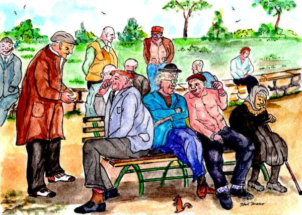 Painting - 1940s - When The Parks Were Filled With People by Philip Bracco