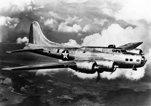 B-17 Bomber Photograph - 1940s World War II Airplane Boeing by Vintage Images