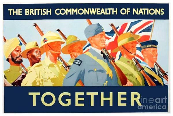 War Bonds Digital Art - 1941 - Great Britain - Commonwealth - War Poster - Wolrd War II - Color by John Madison