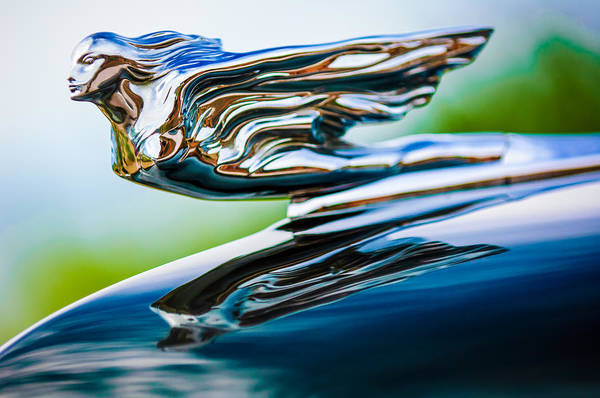 Photograph - 1941 Cadillac Hood Ornament 5 by Jill Reger
