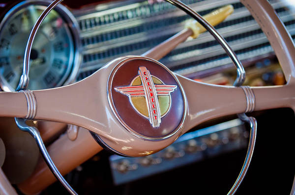 Photograph - 1941 Chevrolet Steering Wheel Emblem by Jill Reger