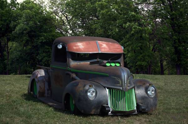 Photograph - 1941 Ford Pickup Rat Rod by Tim McCullough