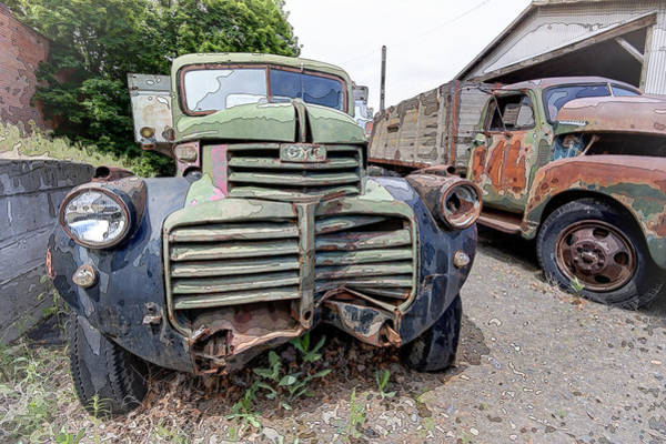 Wrecking Yard Photograph - 1941 G M C Heavy Duty Truck by Daniel Hagerman