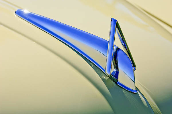 Car Part Photograph - 1949 Hudson Super Six  Hood Ornament by Jill Reger
